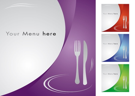Menu for restaurant, cooking business