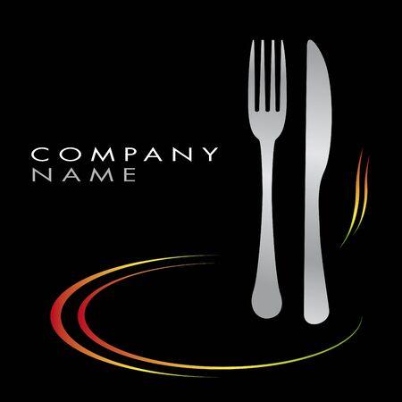 caterer: Logo for cooking business Illustration