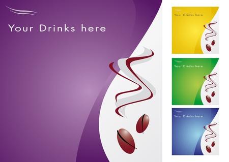chicchi di caff�: Illustrazione con i chicchi di caff� per bar, ristorante e tutti i tipi di attivit� di cucina