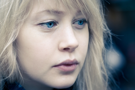 A pretty young woman sad and melancholic Stock Photo - 11562846