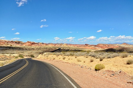 drive through: Road in Valley of Fire State Park, Nevada