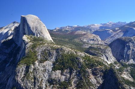 half dome: Half Dome in Yosemite National Park Stock Photo