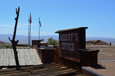 barstow: Sheriffs Office sign in Calico Ghost Town
