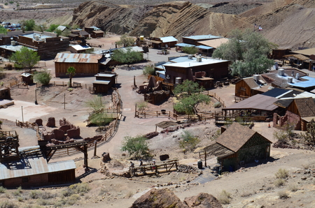 barstow: Scene in Calico Ghost Town Stock Photo