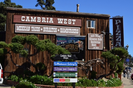 byway: Typical main stree shops in Cambria, California