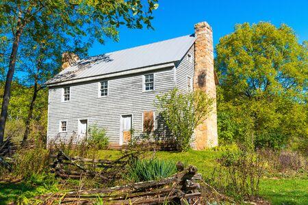 seneca: Historic homestead at the entrance to the Seneca Rocks trail in West Virginia