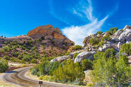 Cub Creek Road in Dinosaur National Monument, Utah