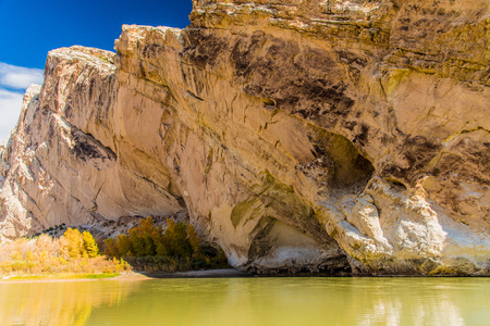 Split Mountain and Green River in Dinosaur National Monument, Utah Stock Photo