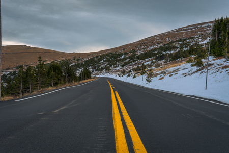 divide: Viewpoint of Trail Ridge Road, Rocky Mountain NP, Colorado
