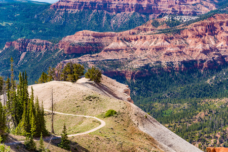 head stones: Overlook of Cedar Breaks National Monument during the summer in Utah