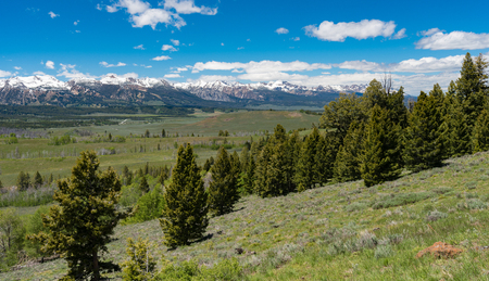 sawtooth national forest: Overlook on the Sawtooth Scenic Byway, Idaho
