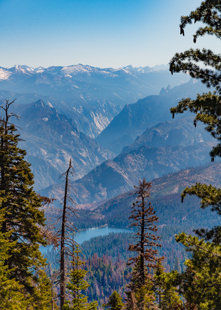 Looking towards Hume Lake from the Panoramic Point overlook in Kings Canyon National Park, California