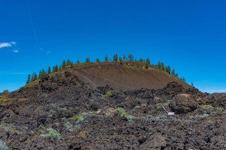 Lava Butte in Newberry National Volcanic Monument Stock Photo