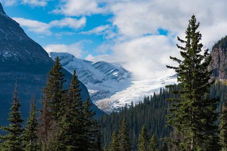 ジャクソン氷河見落とす, グレイシャー国立公園 写真素材