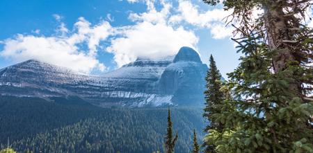 Going to the Sun Mountain in Glacier National Park, Montana Stock Photo