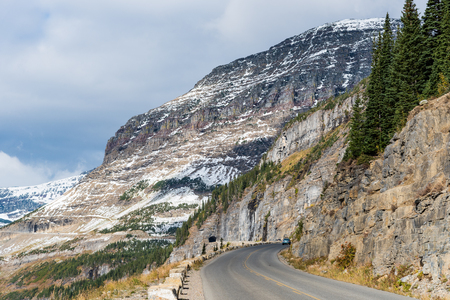 Going to the Sun Road near Logan Pass, Glacier National Park