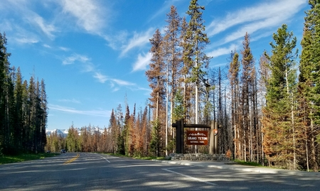 John D Rockefeller Jr Memorial Parkway between Yellowstone and Grand Teton National Parks