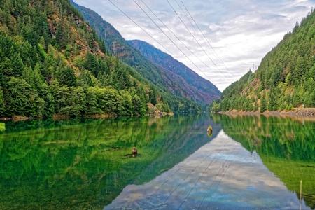 Gorge Lake in North Cascades National Park, Washington Stock Photo