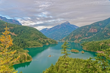 Diablo Lake in North Cascades National Park, Washington