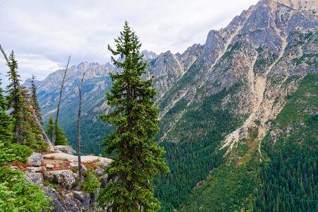 Washington Pass outside North Cascades National Park Stock Photo
