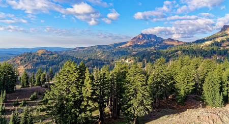 Diamond Peak in Lassen Volcanic National Park Stock Photo