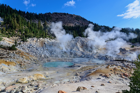 Geothermal activity in Lassen Volcanic National Park