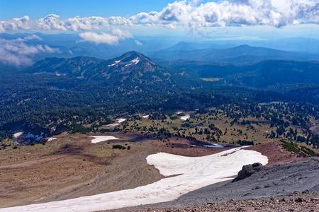 Vista from Lassen Peak in Lassen Volcanic National Park, California