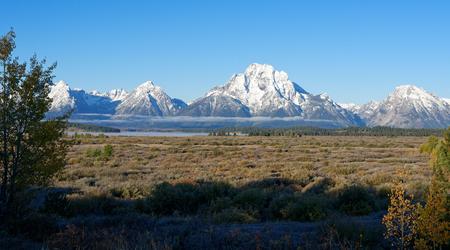 그랜드 Teton 국립 공원, 와이오밍 스톡 콘텐츠 - 91377544