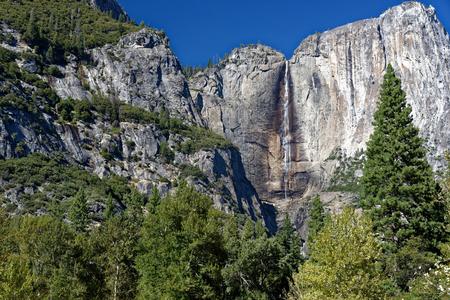 Granite Cliffs in Yosemite National Park Stock Photo