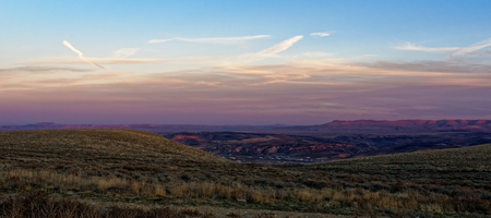 Dusk over the town of Rock Springs, Wyoming