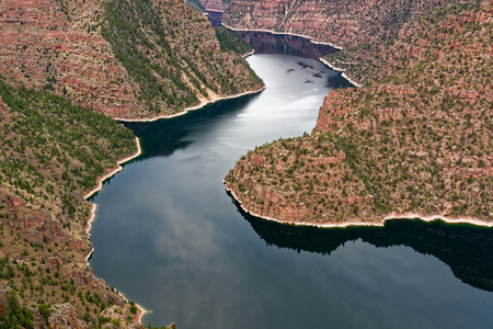 Red Canyon in Flaming Gorge National Recreation Area, Utah Stock Photo