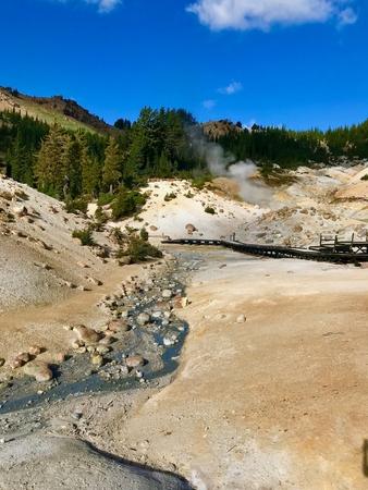 Bumpass Hell, Lassen Volcanic National Park, California Stock Photo