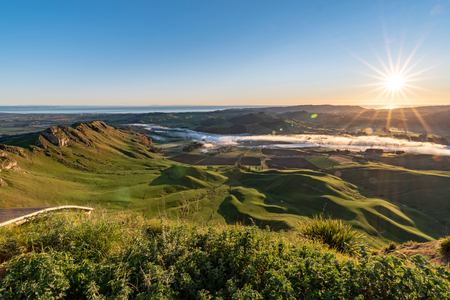 Dawn over Te Mata Peak, Hawkes Bay, New Zealand