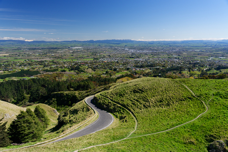 Aerial view of Hastings and Havelock North, New Zealand Reklamní fotografie
