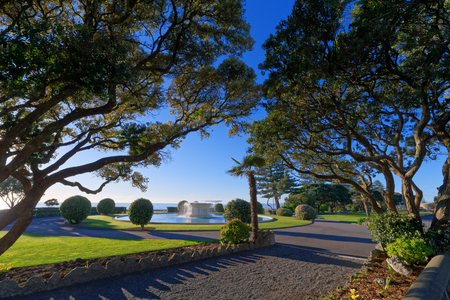Beachfront park in the town of Napier, New Zealand Reklamní fotografie
