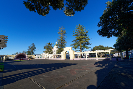 Beachfront park in the town of Napier, NZ
