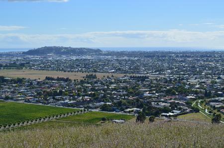 Town of Napier, NZ from Sugar Loaf Reserve Reklamní fotografie