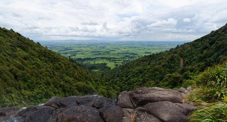 Vista overlooking the Waikato Region, New Zealand Reklamní fotografie