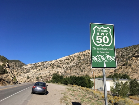 Signpost for Nevada Route 50, The Loneliest Road in America