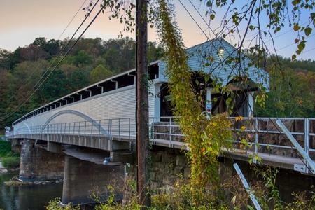 Philippi Covered Bridge, the oldest and longest covered bridge in West Virginia Reklamní fotografie