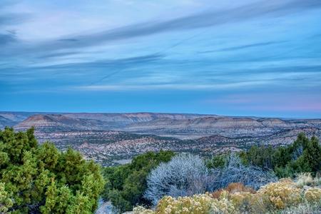 Dusk over shrubland in Southwest Wyoming Reklamní fotografie