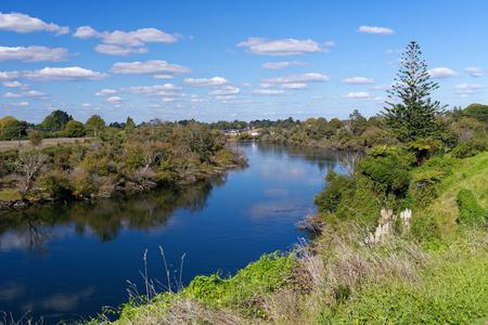 Waikato River near Ngaruawahia, New Zealand