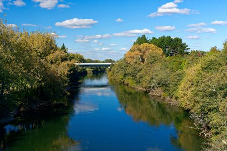 Expressway bridge over the Waikato River near Horotiu, New Zealand Reklamní fotografie