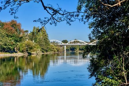 Bridge over the Waikato River in Hamilton, New Zealand