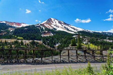 Idarado Mine trestle along the San Juan Highway, Colorado 版權商用圖片