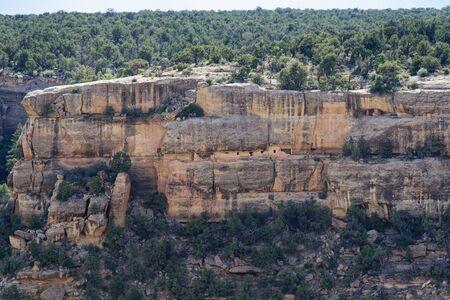 Cliffside pueblo in Mesa Verde National Park, Colorado