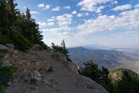 Overlook from Sandia Crest in the Sandia Mountains near Albuquerque, New Mexico