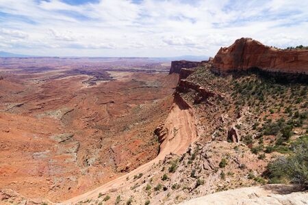 View from the Mesa Arch trail in Island in the Sky, Canyonlands National Park