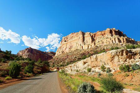 Scenic Drive through Capitol Reef National Park, Utah