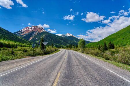Red Mountain Pass along the San Juan Skyway, Colorado Stock Photo